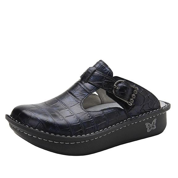 Classic Croco open back clog on classic rocker outsole - ALG-7801_S1