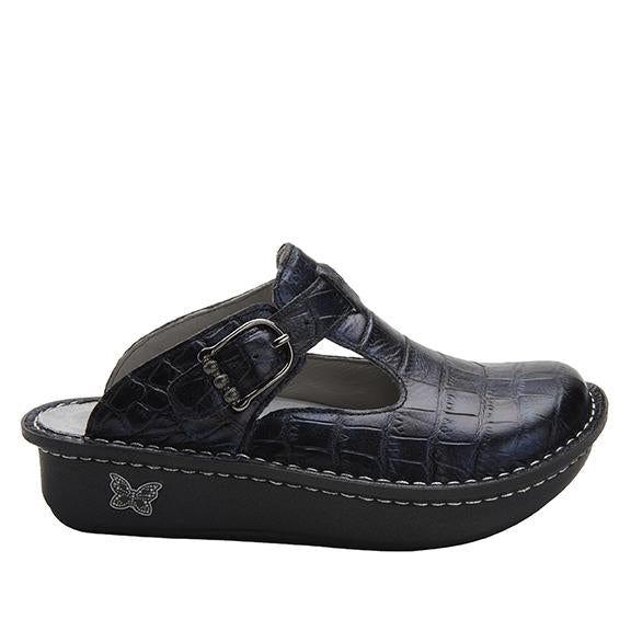 Classic Croco open back clog on classic rocker outsole - ALG-7801_S2