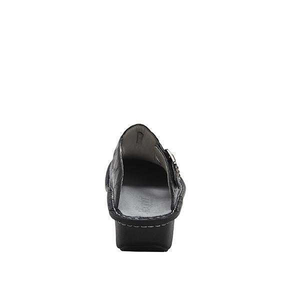 Classic Croco open back clog on classic rocker outsole - ALG-7801_S3