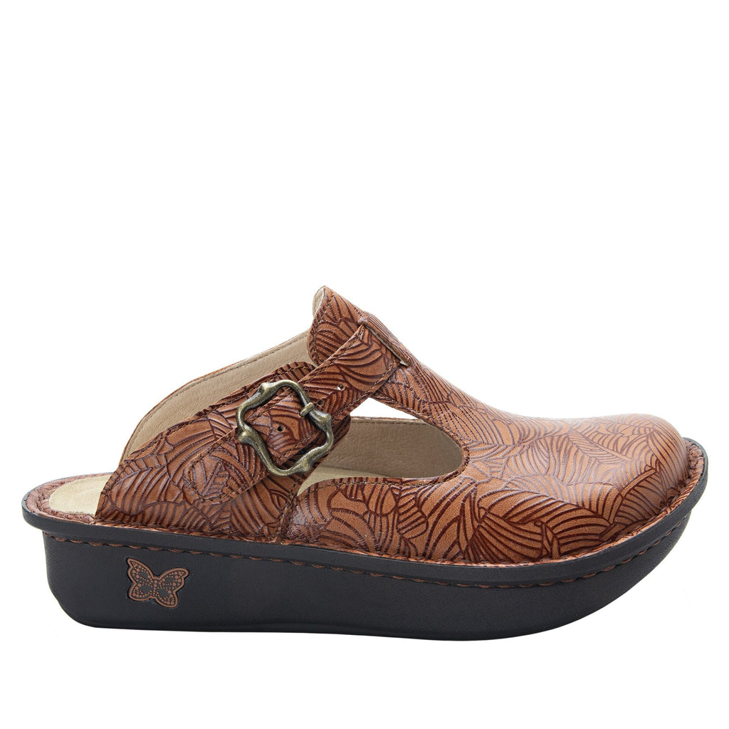 Classic Tobacco Leaf open back clog on classic rocker outsole - ALG-849_S2