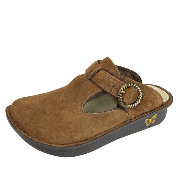 Classic Choco Shearling Clog - Alegria Shoes