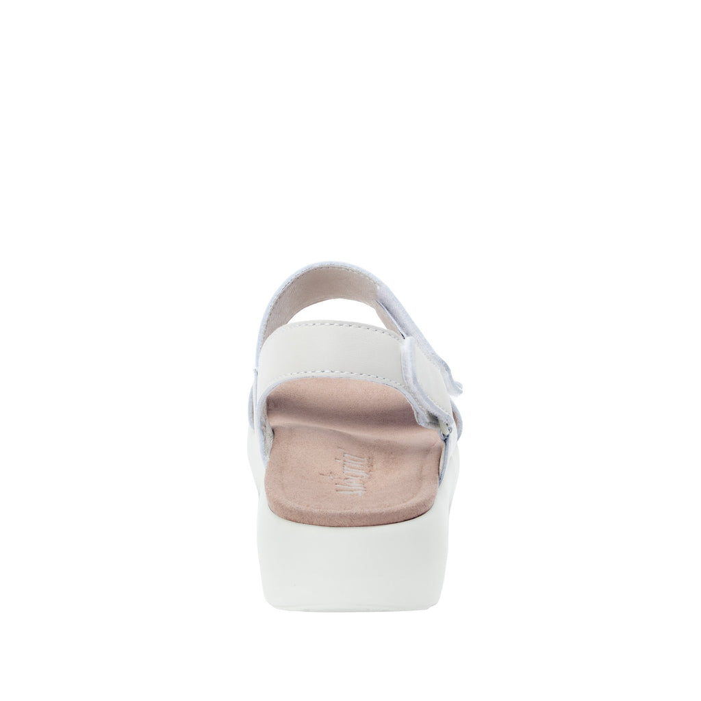 Bailee Ivory ankle strap adjustable sandal with non-flexing sleek rocker bottom with built in arch support  - BAI-609_S4