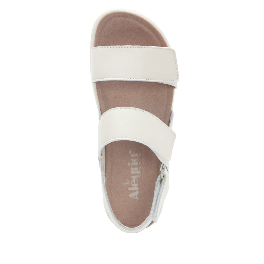 Bailee Ivory ankle strap adjustable sandal with non-flexing sleek rocker bottom with built in arch support  - BAI-609_S5
