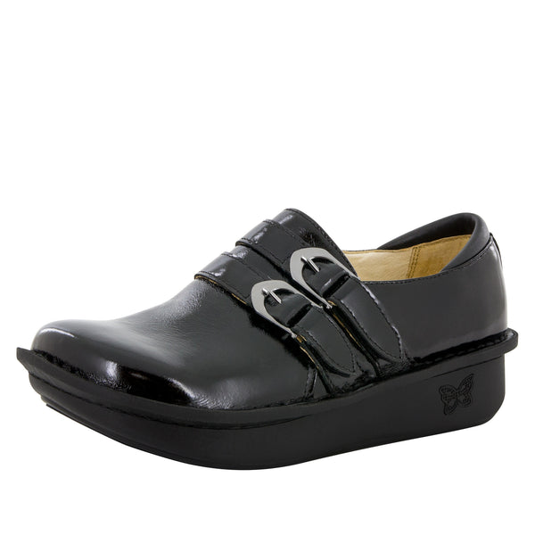 Alli Black Waxy Shoe - Alegria Shoes - 1