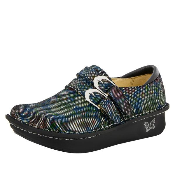 Alli Multi Dot Floral Shoe - Alegria Shoes