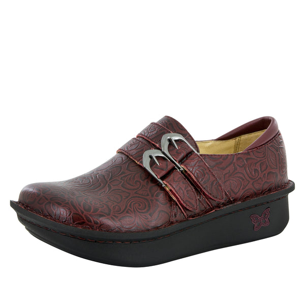 Alli Oxblood Bloom Shoe - Alegria Shoes - 1