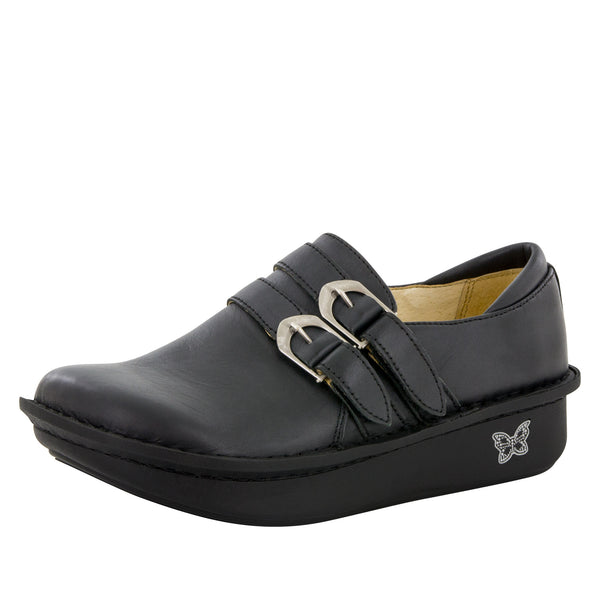 Alli Burnish Black Shoe - Alegria Shoes