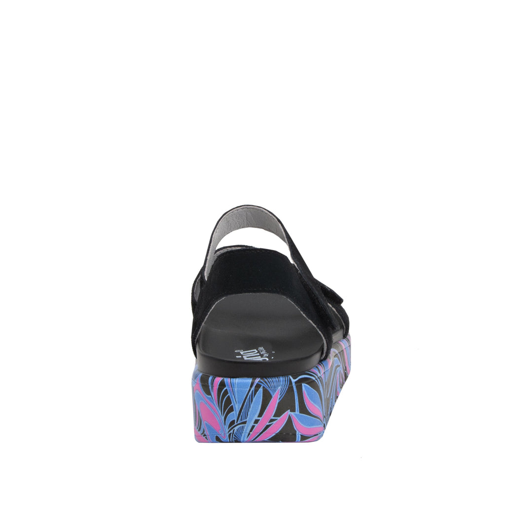 Anah I Got You Babe Black sandal on a printed heritage sport outsole - ANA-170_S3 (1979442692150)