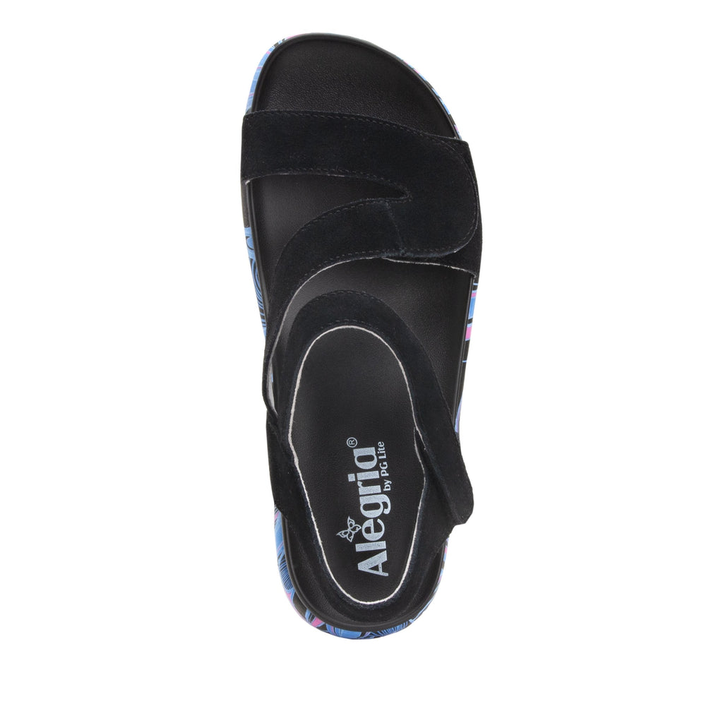 Anah I Got You Babe Black sandal on a printed heritage sport outsole - ANA-170_S4 (1979442692150)