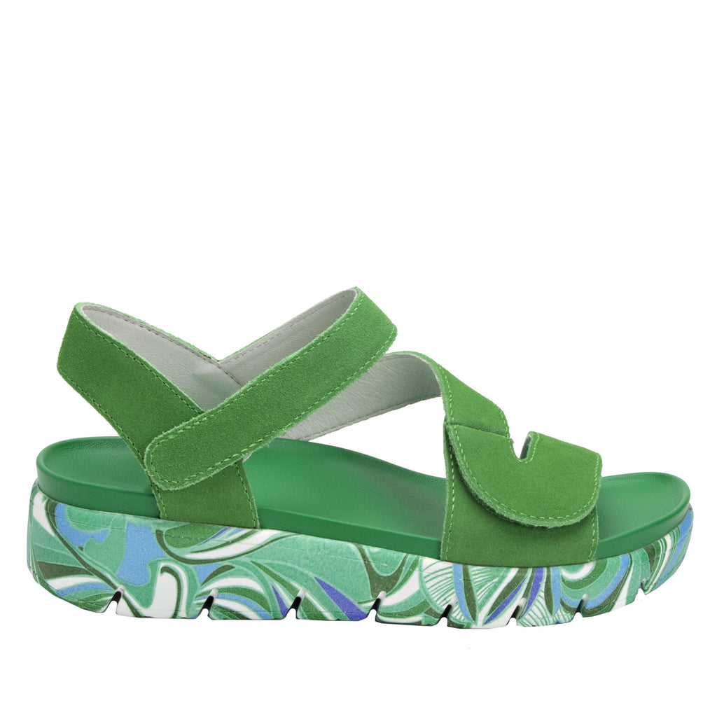 Anah I Got You Babe Green sandal on a printed heritage sport outsole - ANA-171_S2 (1979442757686)