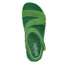 Anah I Got You Babe Green sandal on a printed heritage sport outsole - ANA-171_S4