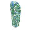 Anah I Got You Babe Green sandal on a printed heritage sport outsole - ANA-171_S5