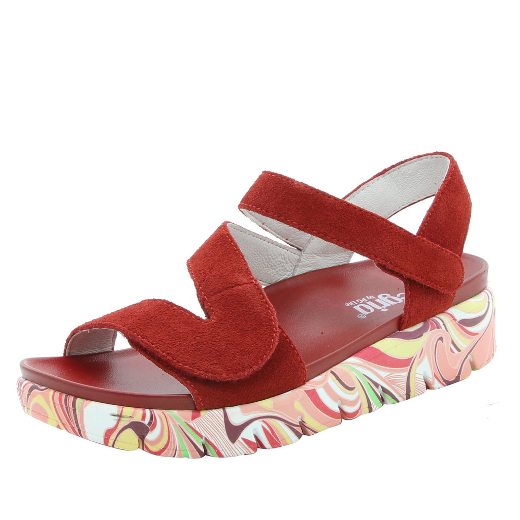 Anah I Got You Babe Red sandal on a printed heritage sport outsole - ANA-172_S1