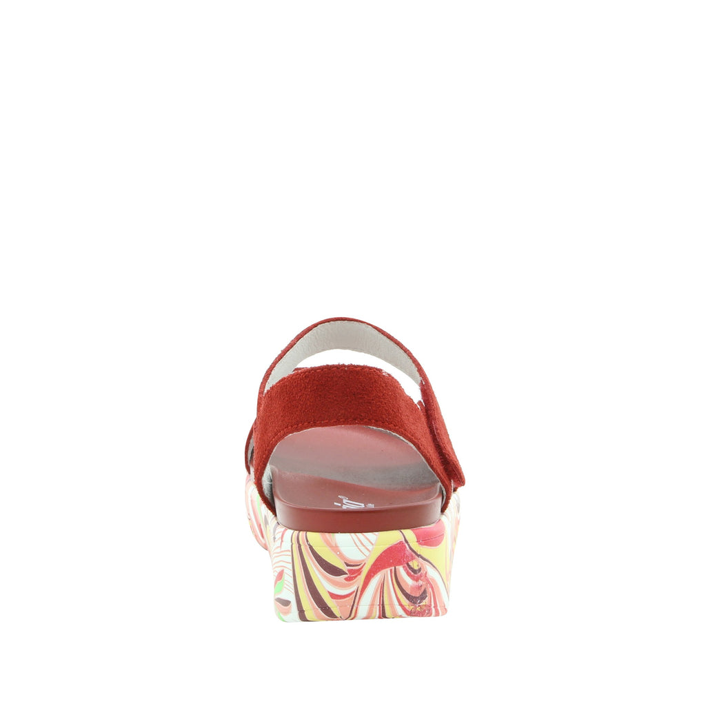 Anah I Got You Babe Red sandal on a printed heritage sport outsole - ANA-172_S3 (1979442626614)