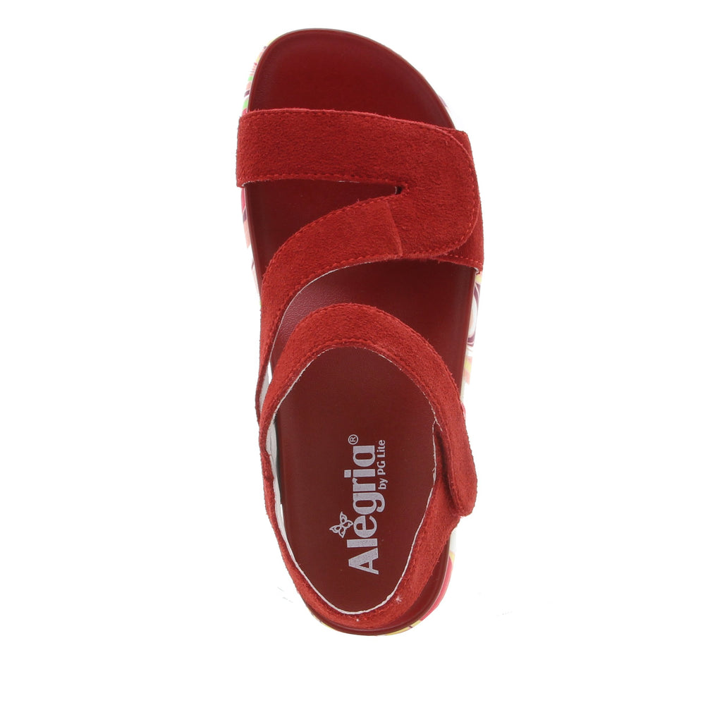 Anah I Got You Babe Red sandal on a printed heritage sport outsole - ANA-172_S4 (1979442626614)