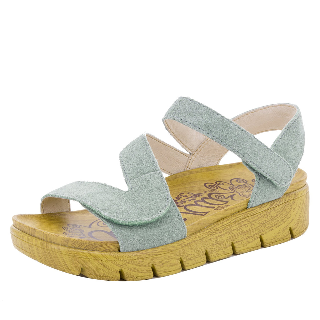 Anah Dusty Blue sandal on the heritage sport outsole - ANA-633_S1