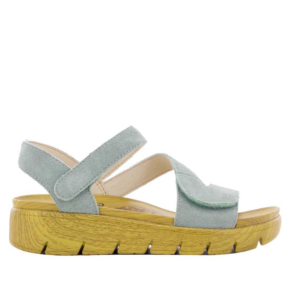 Anah Dusty Blue sandal on the heritage sport outsole - ANA-633_S2