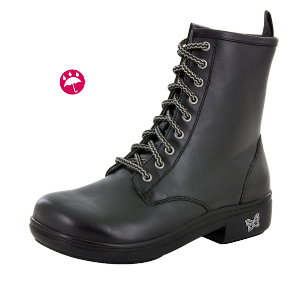 Ari Black Nappa Boot - Alegria Shoes - 1