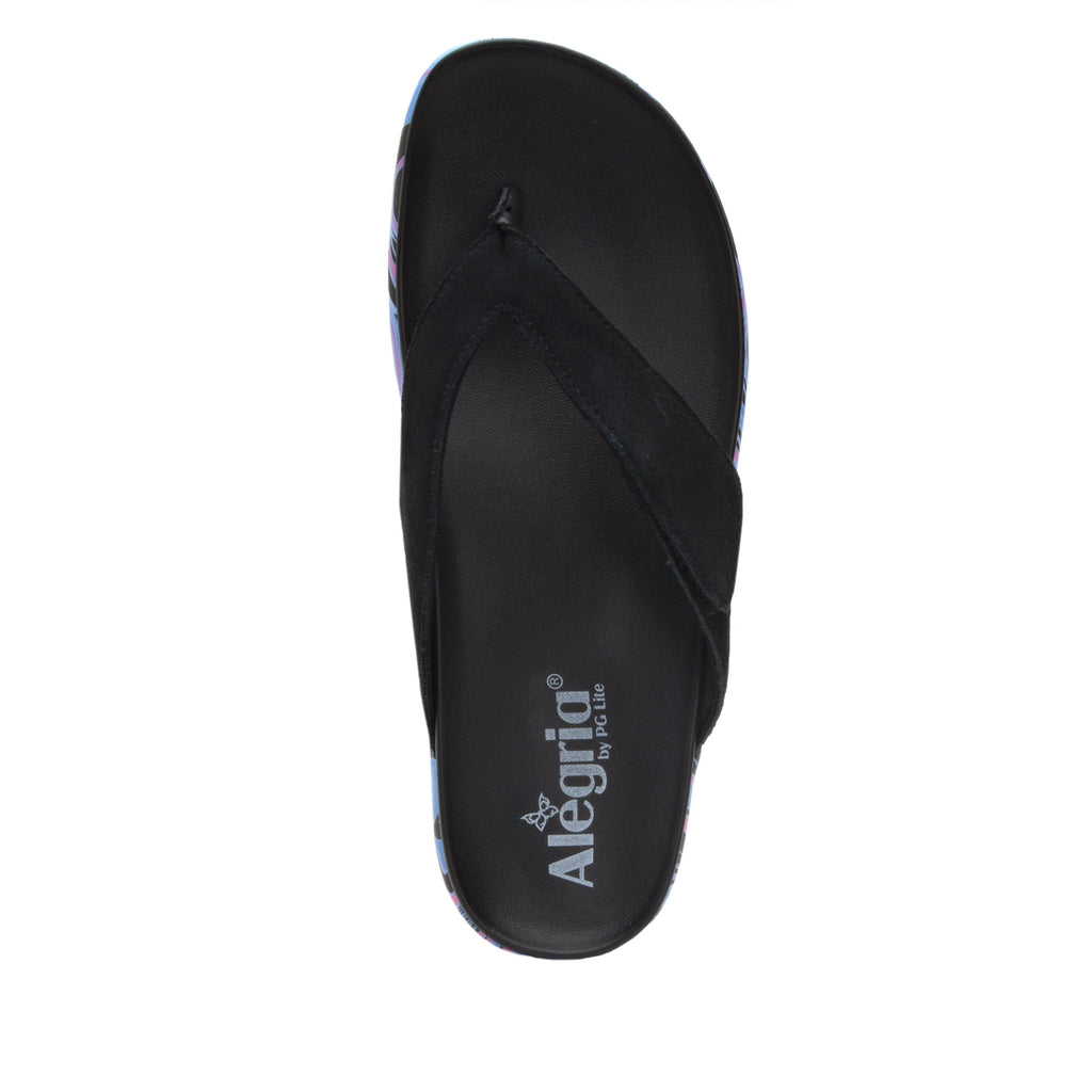 Astara I Got You Babe Black sandal on a printed heritage sport outsole - AST-170_S4
