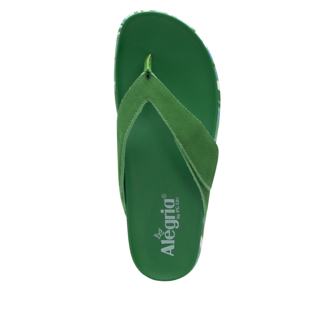 Astara I Got You Babe Green sandal on a printed heritage sport outsole - AST-171_S4 (2005365882934)