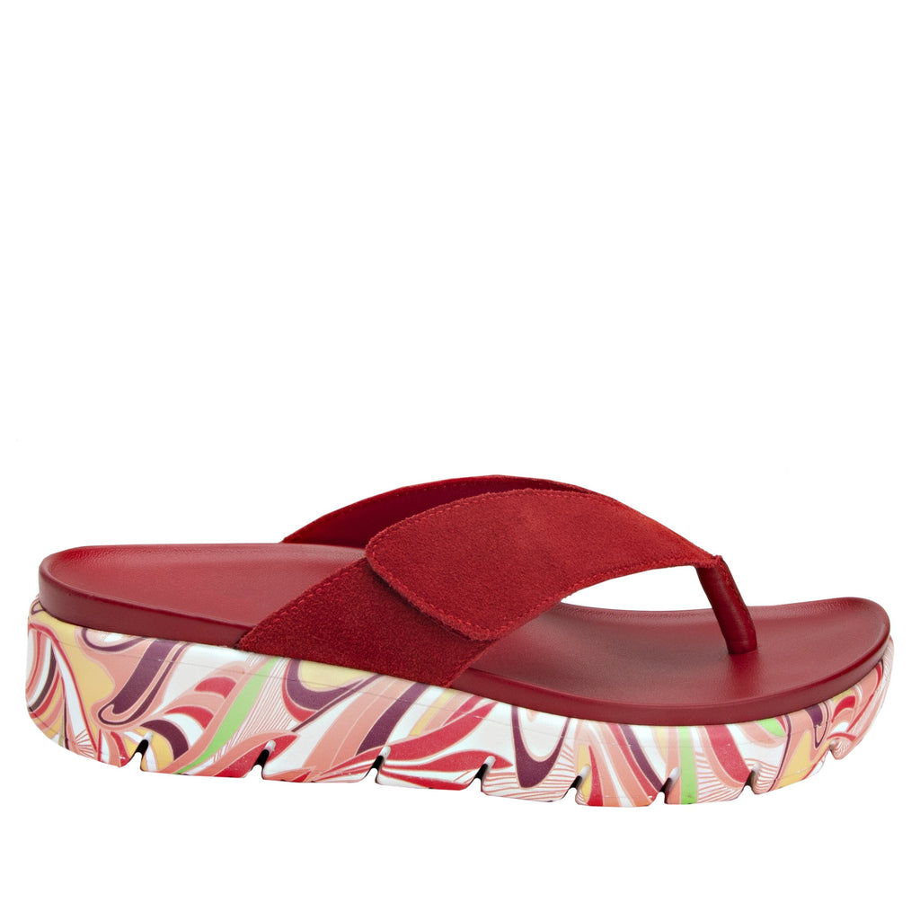 Astara I Got You Babe Red sandal on a printed heritage sport outsole - AST-172_S2 (2005366145078)