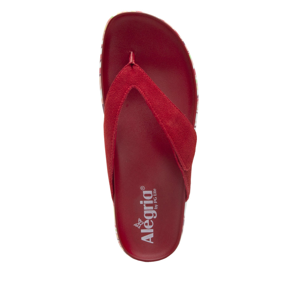 Astara I Got You Babe Red sandal on a printed heritage sport outsole - AST-172_S4 (2005366145078)