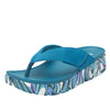 Astara I Got You Babe Teal sandal on a printed heritage sport outsole - AST-173_S1