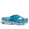 Astara I Got You Babe Teal sandal on a printed heritage sport outsole - AST-173_S2