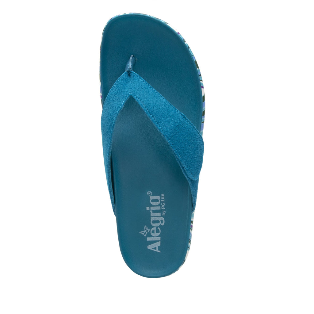 Astara I Got You Babe Teal sandal on a printed heritage sport outsole - AST-173_S4 (2005366439990)