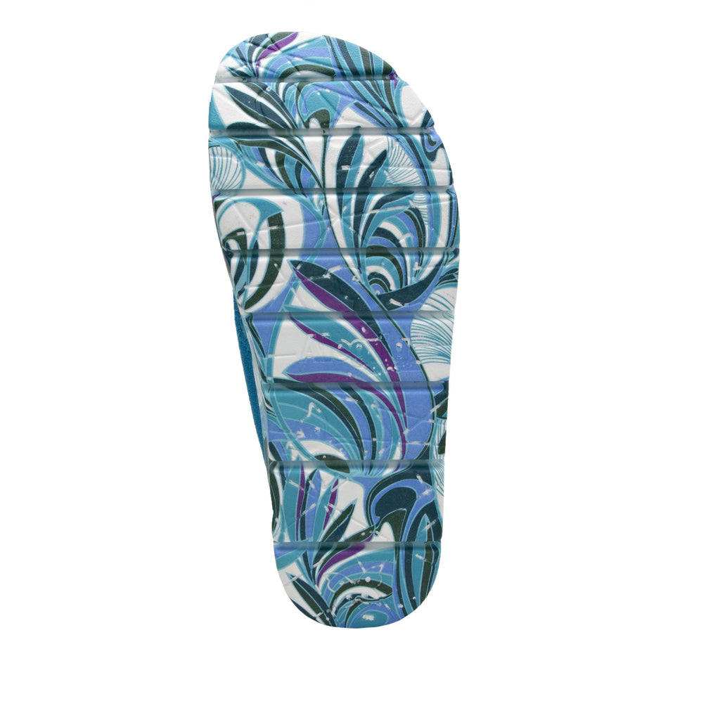 Astara I Got You Babe Teal sandal on a printed heritage sport outsole - AST-173_S5 (2005366439990)