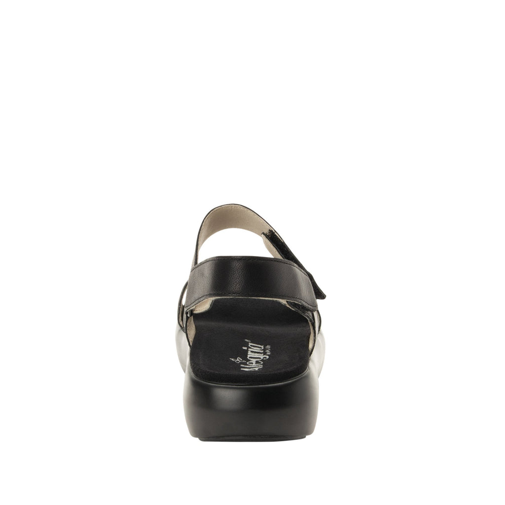 Bailee Black ankle strap adjustable sandal with non-flexing sleek rocker bottom with built in arch support  - BAI-601_S3
