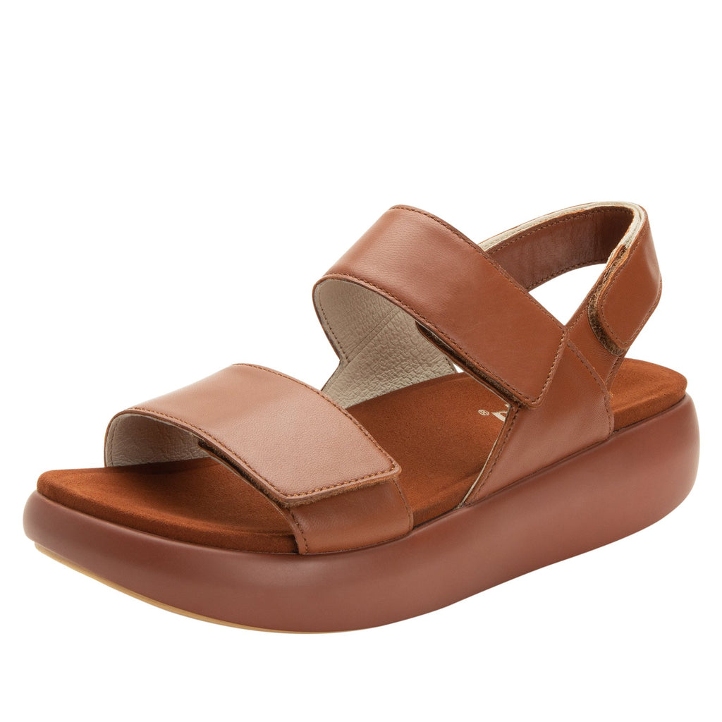 Bailee Luggage ankle strap adjustable sandal with non-flexing sleek rocker bottom with built in arch support  - BAI-602_S1