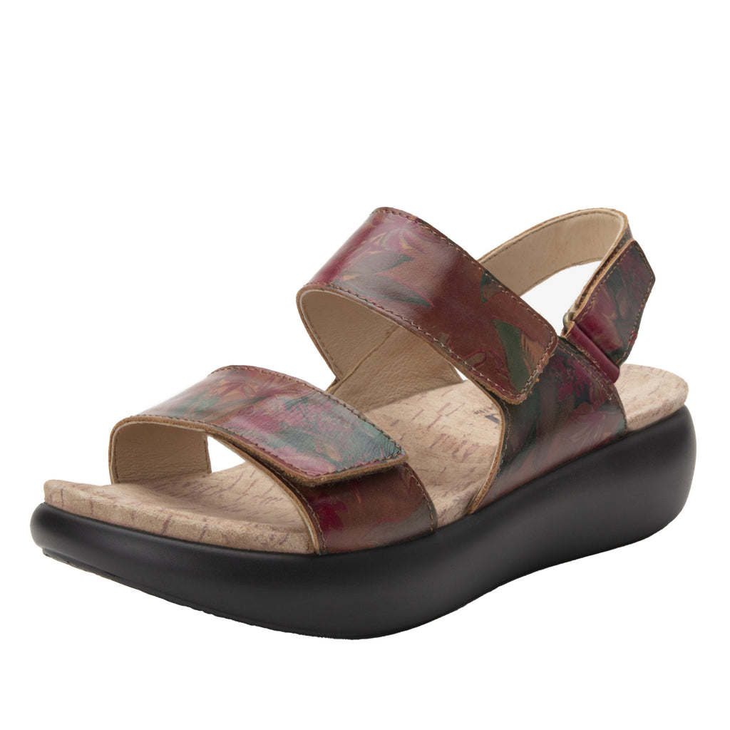 Bailee Southwestern Romance ankle strap adjustable sandal with non-flexing sleek rocker bottom with built in arch support  - BAI-7716_S1