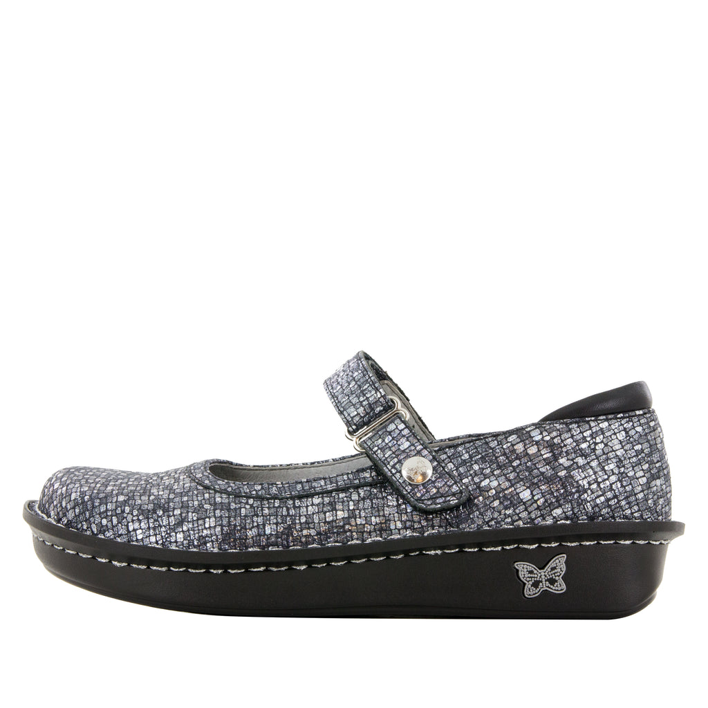 Belle Silver Slate mary-jane shoe with mini outsole - BEL-162_S2
