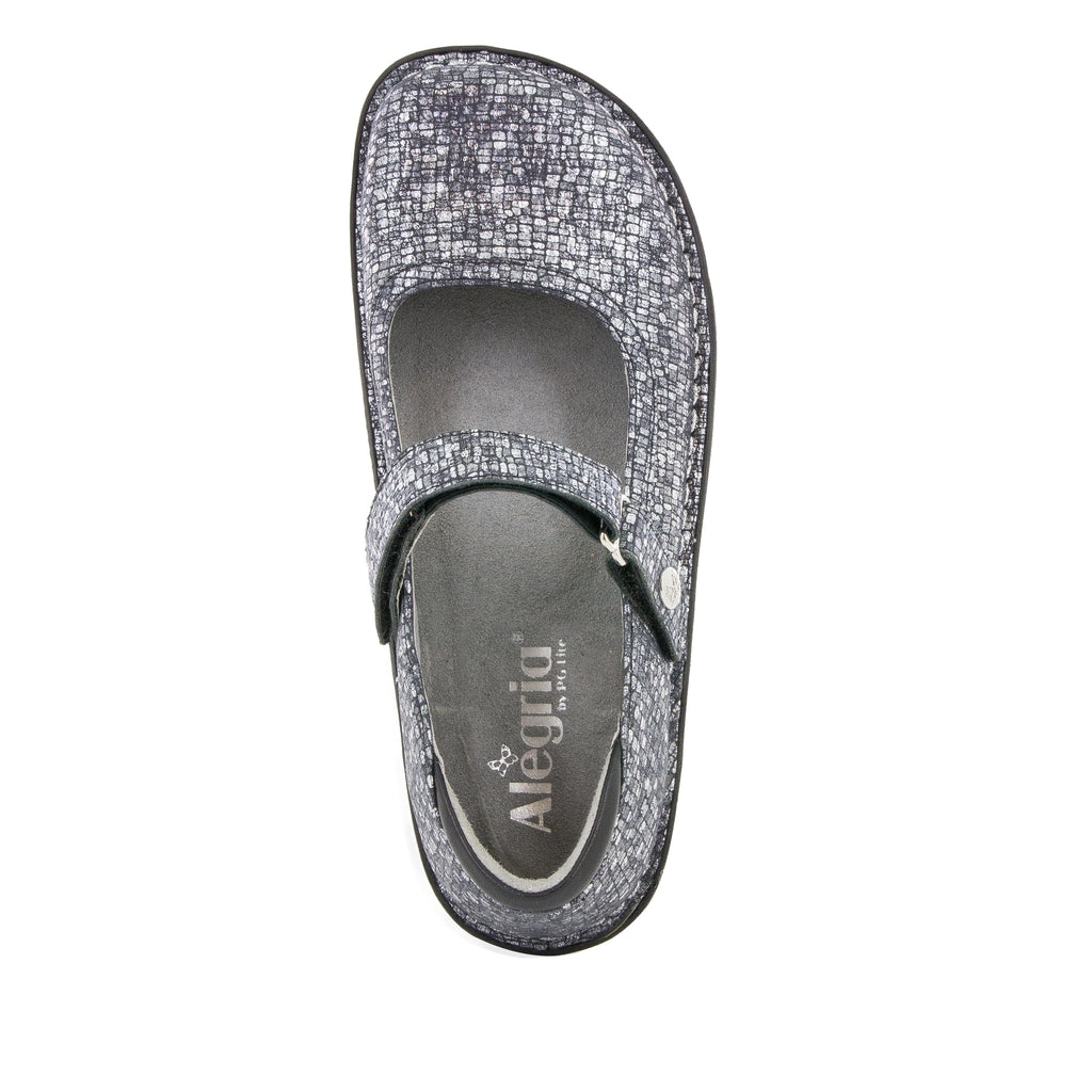 Belle Silver Slate mary-jane shoe with mini outsole - BEL-162_S4 (514615967798)