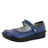 Belle Grid Blue Shoe - Alegria Shoes - 1