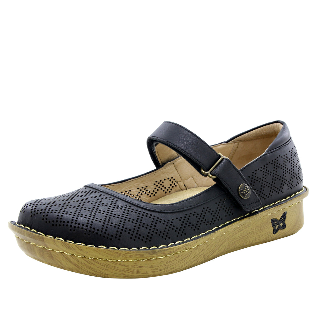 Belle Fresh Black Mary Jane shoe with mini outsole - BEL-594_S1