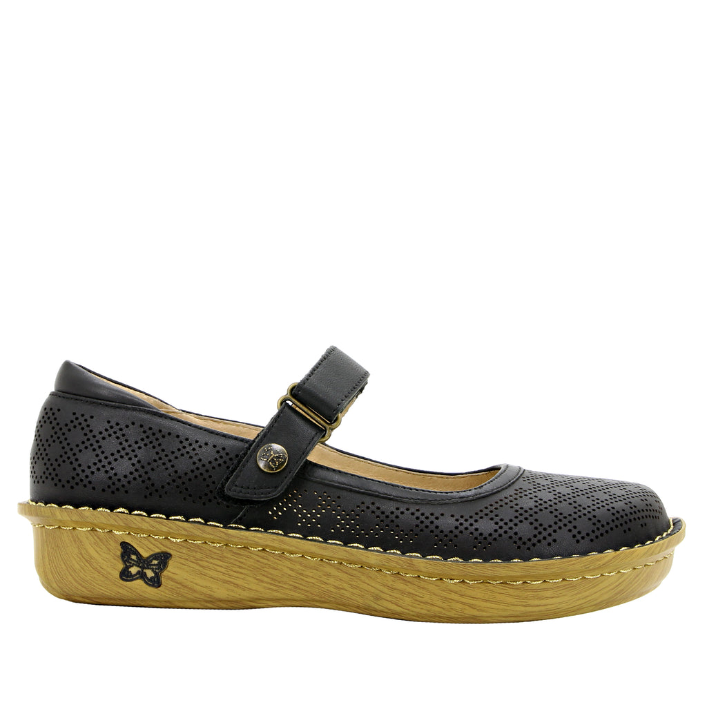Belle Fresh Black Mary Jane shoe with mini outsole - BEL-594_S2