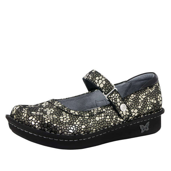 Belle Pewter Mosaic Shoe - Alegria Shoes - 1
