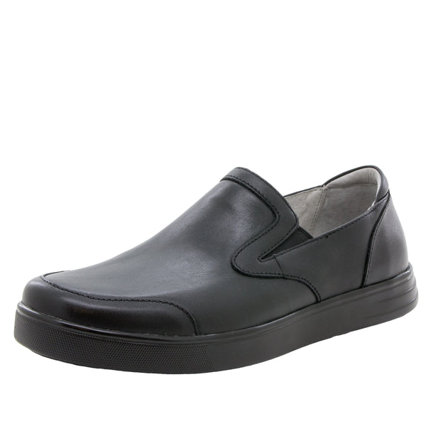Alegria Men's Bender Black Tumbled Shoe