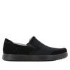 Alegria Men's Bender Black Suede Shoe