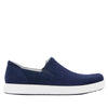 Alegria Men's Bender Navy Suede Shoe