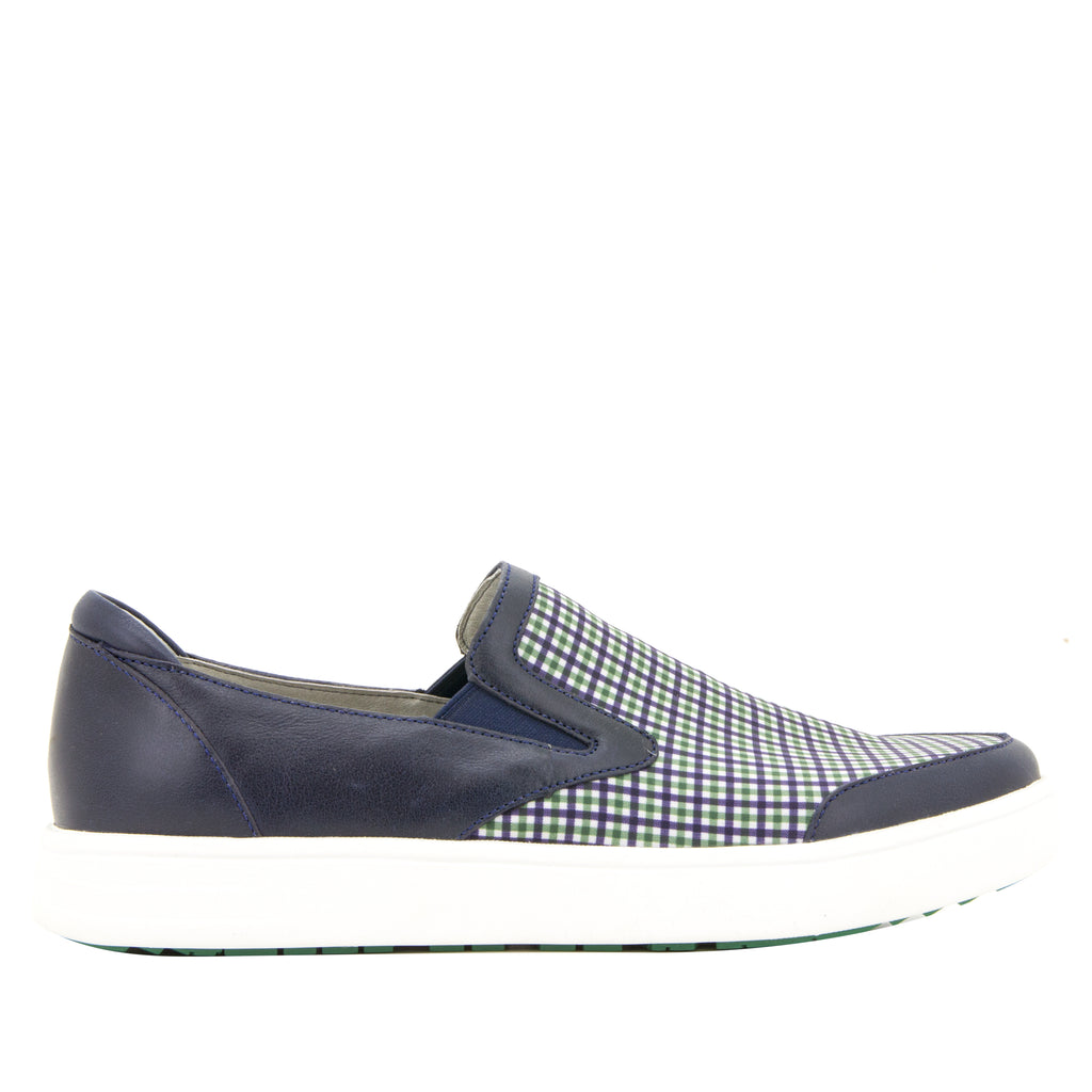 Alegria Men's Bender Navy Plaid Shoe (512246939702)