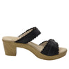 Bobbi Finely double adjustable strap slide sandal on comfort heel outsole- BOB-101_S2