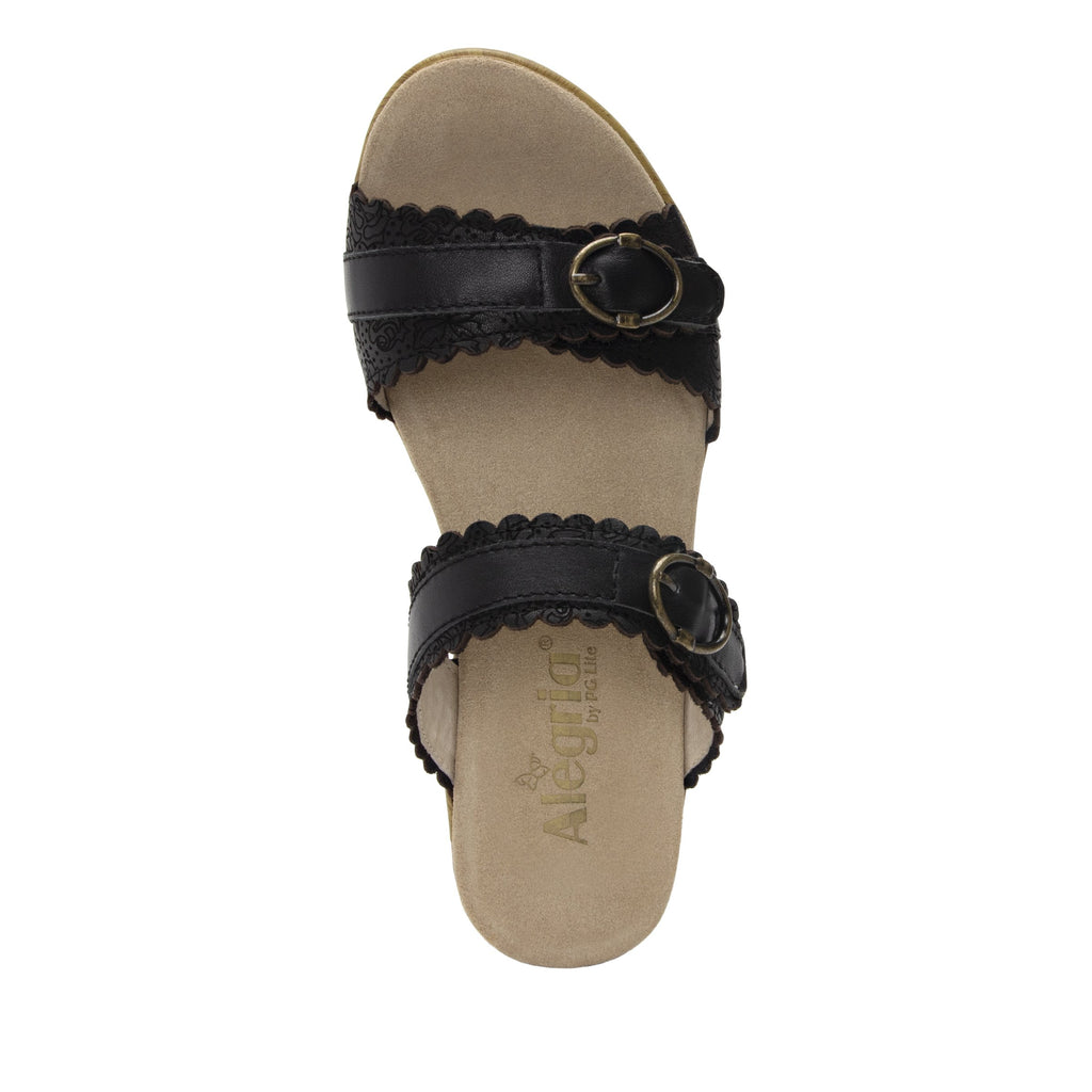 Bobbi Finely double adjustable strap slide sandal on comfort heel outsole- BOB-101_S4 (2128634085430)