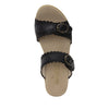 Bobbi Finely double adjustable strap slide sandal on comfort heel outsole- BOB-101_S4