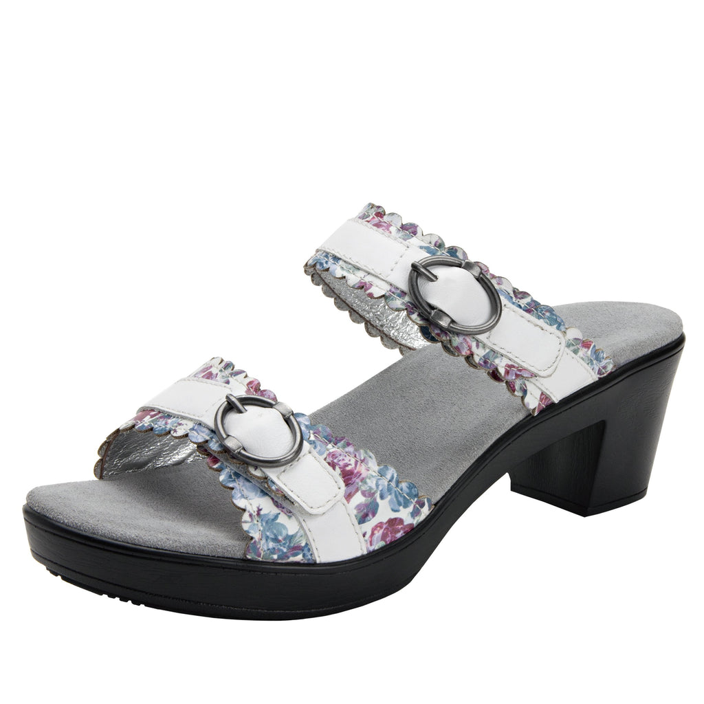 Bobbi Flounce double adjustable strap slide sandal on comfort heel outsole- BOB-109_S1 (2128634511414)