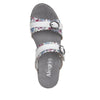 Bobbi Flounce double adjustable strap slide sandal on comfort heel outsole- BOB-109_S4