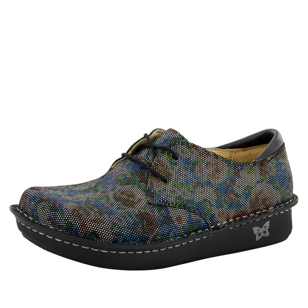 Bree Multi Dot Floral Shoe - Alegria Shoes