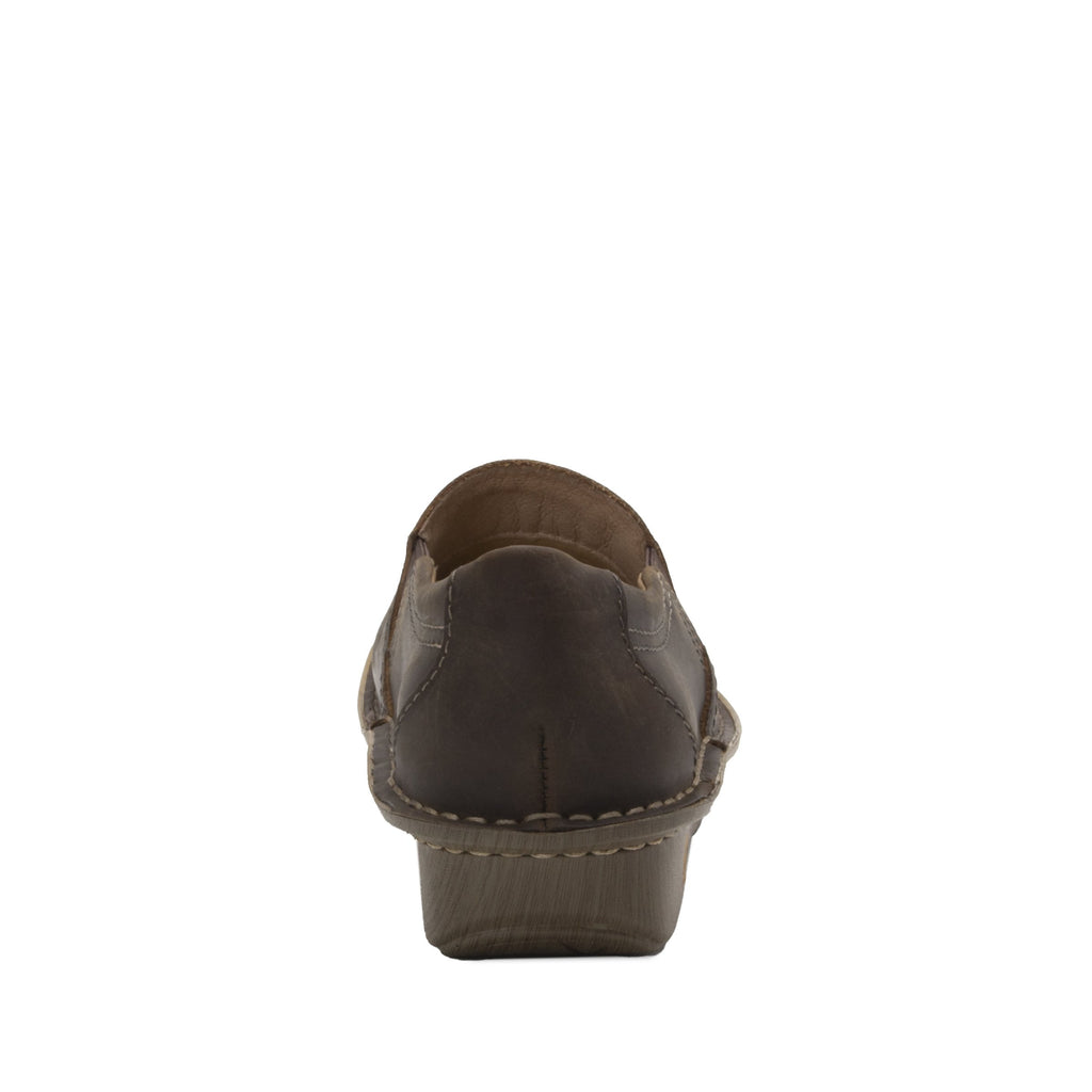 Brook Oiled Brown slip-on shoe on mini outsole, with double elastic gore for ease of wear - BRO-7714_S3